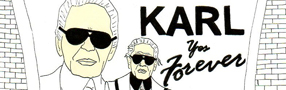 Karl Lagerfeld, personnage de BD