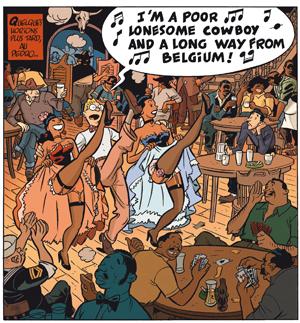 Gringos Locos: Franquin, Morris y Jijé en America, por Yann y Schwartz (PREVIEW Y COMENTARIOS) Gringos_danse