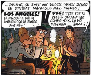 Gringos Locos: Franquin, Morris y Jijé en America, por Yann y Schwartz (PREVIEW Y COMENTARIOS) Gringos_disney